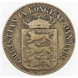 DANISH WEST INDIES: Christian IX, 1863-1906, 1 cent, 1879. F-VF