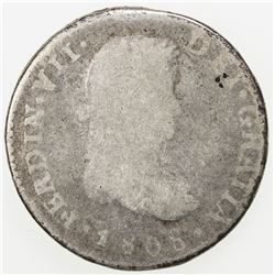 GUATEMALA: Fernando VII, 1808-1821, AR real, 1808-NG. Fa