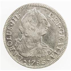MEXICO: Carlos III, 1759-1788, AR 2 reales, 1783-Mo. EF-AU