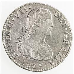 MEXICO: Fernando VII, 1808-1821, AR real, 1809-Mo. EF-AU