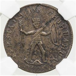 MEXICO: Republic, AE 1/8 real, 1855