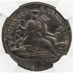 MEXICO: Republic, AE 1/8 real, 1859