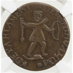 MEXICO: Republic, AE 1/4 real, 1855