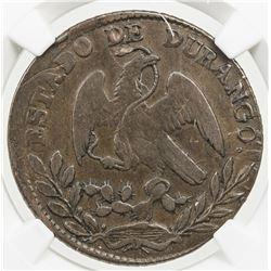 MEXICO: Republic, AE 1/4 real, 1866