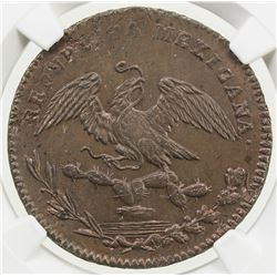 MEXICO: Republic, AE 1/4 real, 1830-Mo