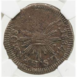 MEXICO: Republic, AE 1/4 real, 1834