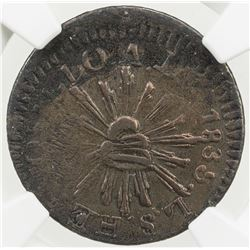 MEXICO: Republic, AE 1/4 real, 1835
