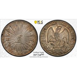 MEXICO: Republic, AR 8 reales, 1834-Do. PCGS MS62