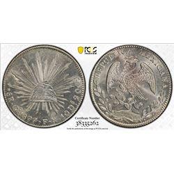 MEXICO: Republic, AR 8 reales, 1877-Go. PCGS MS63