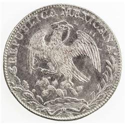 MEXICO: Republic, AR 8 reales, 1842-Mo. UNC