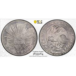 MEXICO: Republic, AR 8 reales, 1863-Mo. PCGS UNC