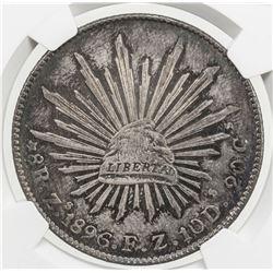 MEXICO: Republic, AR 8 reales, 1896-Zs