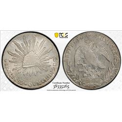MEXICO: Republic, AR 8 reales, 1832-Zs. PCGS MS64