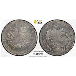 MEXICO: Republic, AR 8 reales, 1837-Zs. PCGS MS62