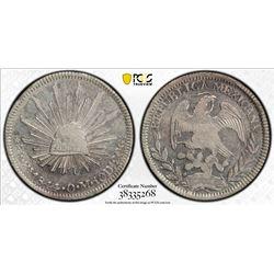 MEXICO: Republic, AR 8 reales, 1844-Zs. PCGS AU58