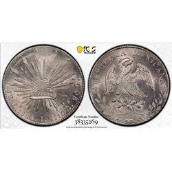 MEXICO: Republic, AR 8 reales, 1884-Zs. PCGS MS63