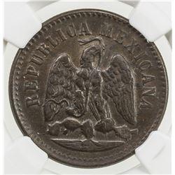 MEXICO: Republic, AE centavo, 1897-Cn