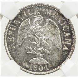 MEXICO: Republic, AR 20 centavos, 1901-Mo