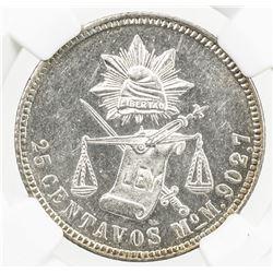 MEXICO: Republic, AR 25 centavos, 1886-Mo