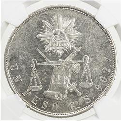 MEXICO: Republic, AR peso, 1871-Go