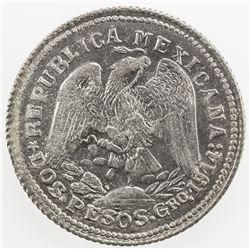 MEXICO: Revolutionary Issue, AR 2 pesos, Guerrero, 1914, KM-643, GB-208, EF-AU