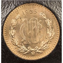 MEXICO: Estados Unidos, AE 10 centavos, 1935-Mo