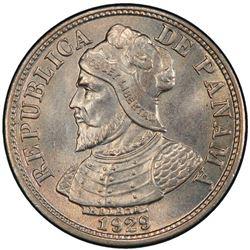 PANAMA: Republic, 2 1/2 centesimos, 1929. PCGS MS66