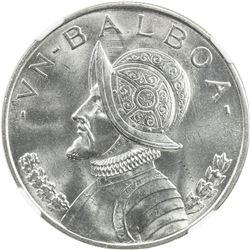PANAMA: Republic, AR balboa, 1947. NGC MS64