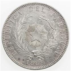 PARAGUAY: Republic, AR peso, 1889. EF