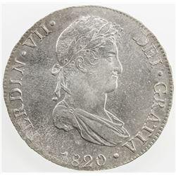 PERU: Fernando VII, 1808-1822, AR 8 reales, Lima, 1820. AU