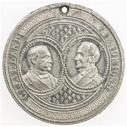 UNITED STATES: white metal medal, 1885. AU