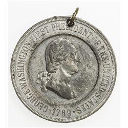 UNITED STATES: white metal medal, 1889. AU