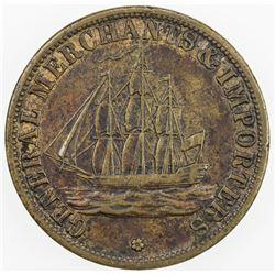 UNITED STATES:token (7.08g), ND [1851]. AU