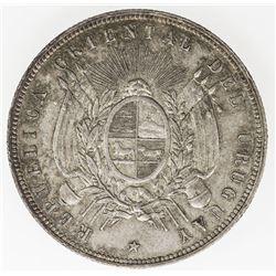 URUGUAY: Republic, AR peso, 1877-A. EF