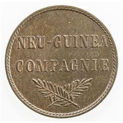 GERMAN NEW GUINEA: Wilhelm II, 1888-1918, AE pfennig, 1894-A. UNC