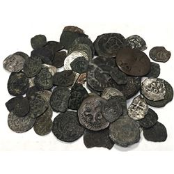 WORLDWIDE: EUROPE (MEDIEVAL): LOT of 75 mostly bronze and some silver medieval European coins