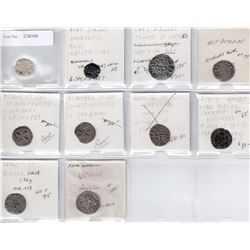 WORLDWIDE: EUROPE: LOT of 10 medieval coins, retail value $700
