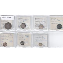 WORLDWIDE: EUROPE: LOT of 7 medieval coins, retail value $725