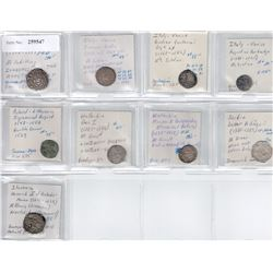 WORLDWIDE: EUROPE: LOT of 9 medieval coins, retail value $725