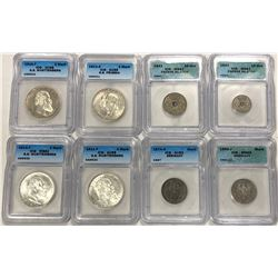 WORLDWIDE: EUROPE: LOT of 21 certified coins, ICG unless noted, retail value $600