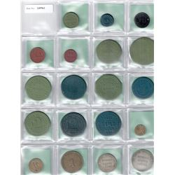 WORLDWIDE: LATIN AMERICA: LOT of 38 diverse coins and tokens