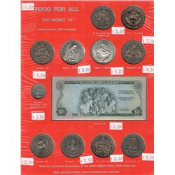 WORLDWIDE: LOT of 265 total coins and 1 banknote, retail value $1600