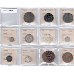 WORLDWIDE: LOT of 11 scarce coins and tokens