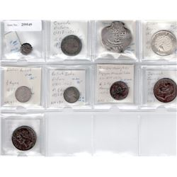 WORLDWIDE: LOT of 9 coins, retail value $1100