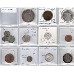 WORLDWIDE: LOT of 13 coins from Europe, the Caribbean, Asia and Africa