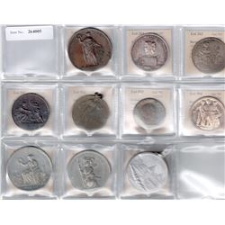 WORLDWIDE: LOT of 10 medals, retail value $750