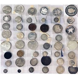 WORLDWIDE: LOT of 52 coins, retail value $975