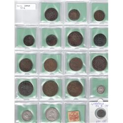 WORLDWIDE: LOT of 73 diverse coins, retail value $675