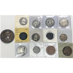 WORLDWIDE: LOT of 13 diverse coins and medals