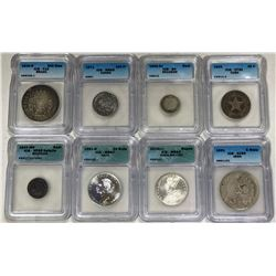 WORLDWIDE: LOT of 17 diverse ICG-graded coins